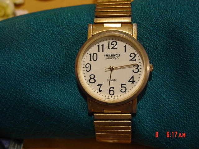 Men's Goldtone Helbros Invincible Quartz Wrist Watch