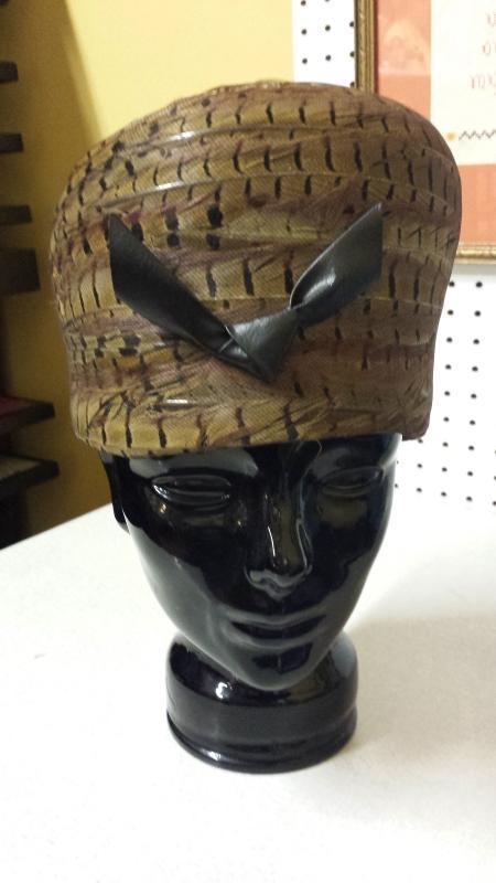 Haute Couture Vincent de Koven Original Pheasant Feather Hat