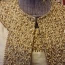Sabina of India Lord & Taylor Raw Silk Cream Dress & Matching Coat