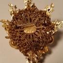 Robert DeMario Baroque Pearl & Rhinestone Brooch & Clip Earrings
