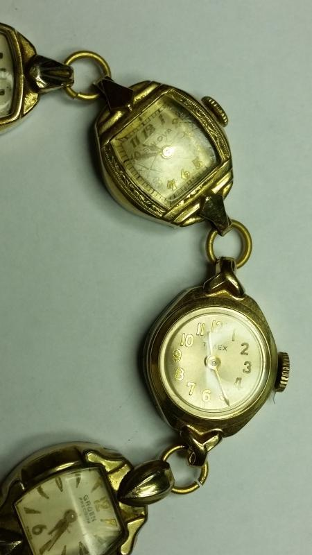 Bracelet of 6 Vintage Gold Filled Ladies Watches