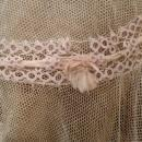 Antique French Netting and Tatted Lace Bonnet, Boudoir, Mob or Night Cap