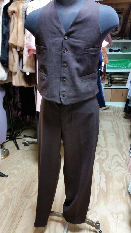 1929 3 piece Brown Wool Men's Suit