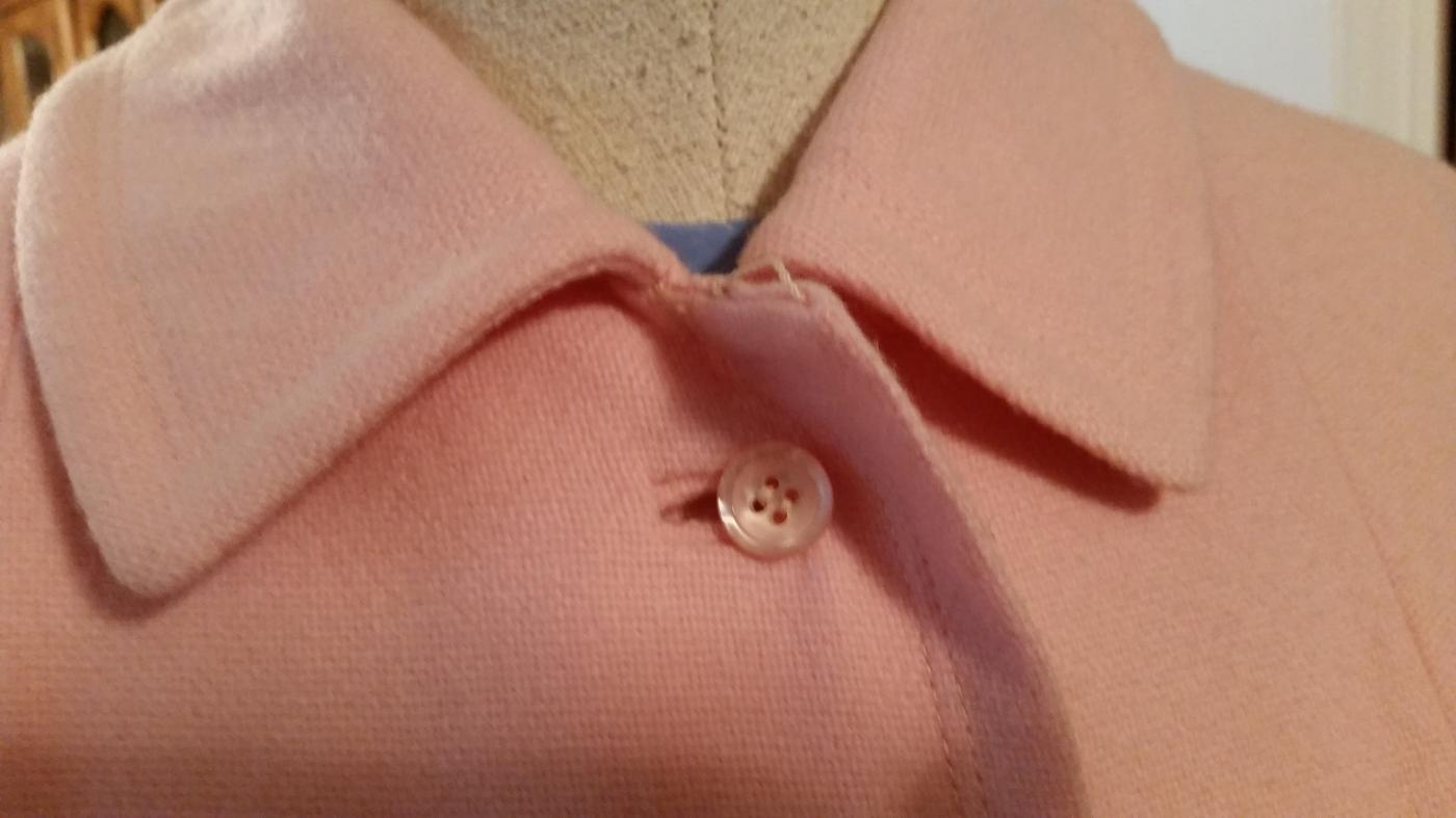 Vintage 60's Ladies Light Pink Wool Coat