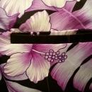 Vintage 60's Kalena Fashions of Hawaii Purple & White Hibiscus Long Sarong Skirt & Shirt