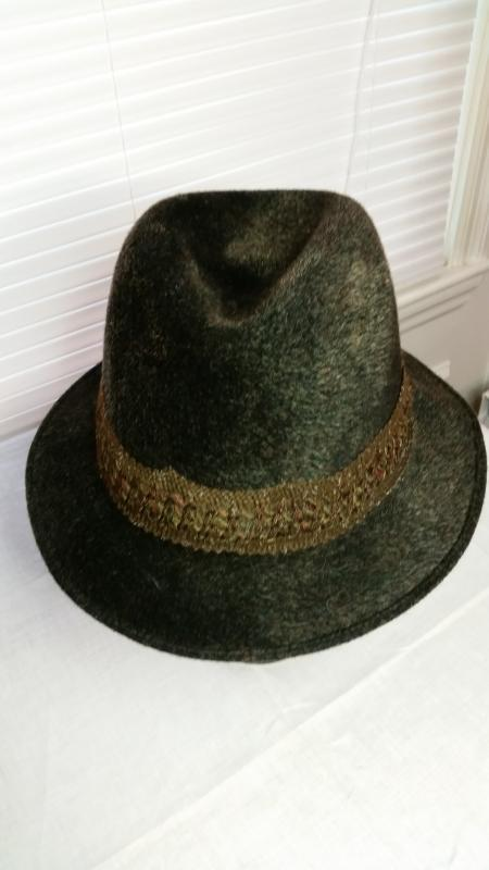 Men's Brown Wool Fedora by Lembert