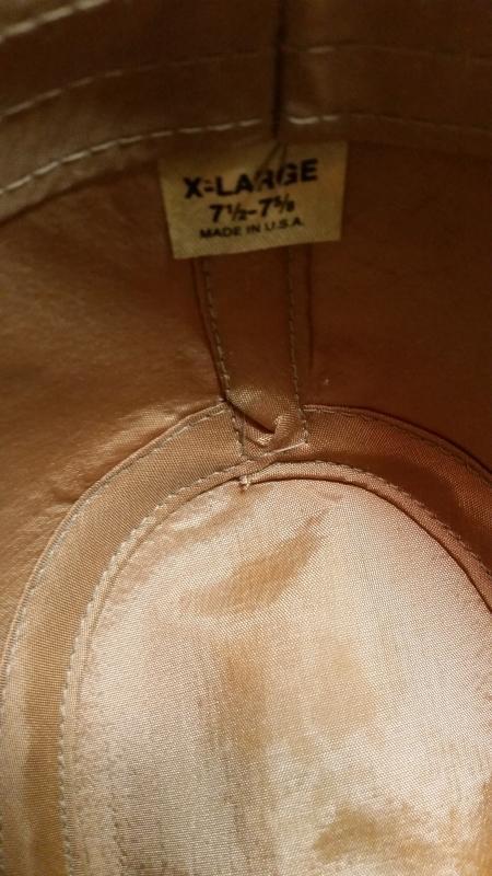 Men's Tan Heavy Water-Resistant Cotton Safari Fedora Hat