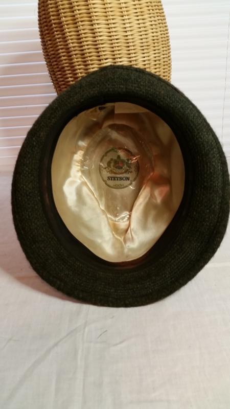 Men's Brown Wool Tweed Stetson Hat