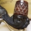 KB&B Kaufman Brothers & Bondy Gutta Percha Carved Eagle Claw Talon Pipe