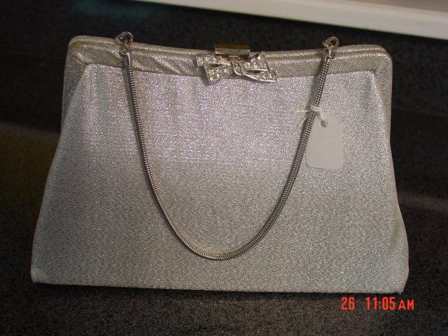 Vintage Silver Whiting & Davis Evening Bag