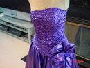 Vintage 1986 Purple Zum Zum Cocktail Evening Party Dress