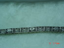 14K White Gold & Diamond Filigree Bracelet