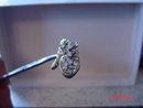 Gold Adjustable Cornucopia Clear Rhinestone Cocktail Ring