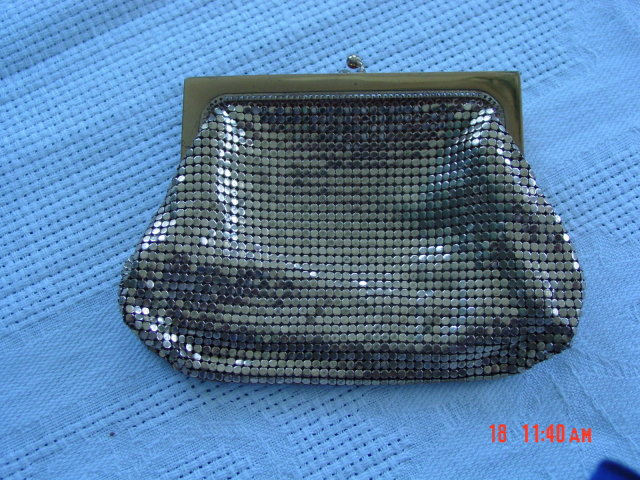 Gold Mesh Whiting & Davis Purse 2978