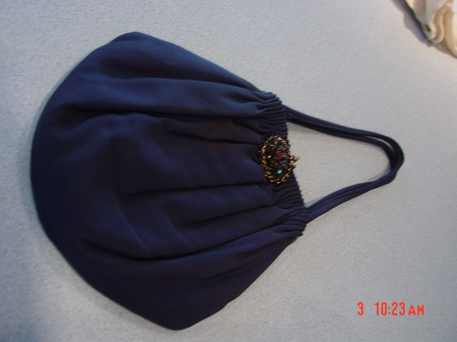 1940's Guild Original Black Rayon Purse