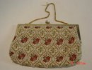 Hong Kong Beaded Tapestry Evening Bag Purse