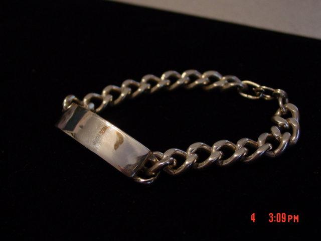 Heavy Sterling Silver ID Bracelet