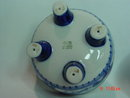 Cobalt Blue & White Porcelain Trinket Box Bird Topper Handmade in Russia