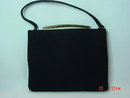 Vintage Black Twill Satin MM Morris Moskowitz Handbag Purse