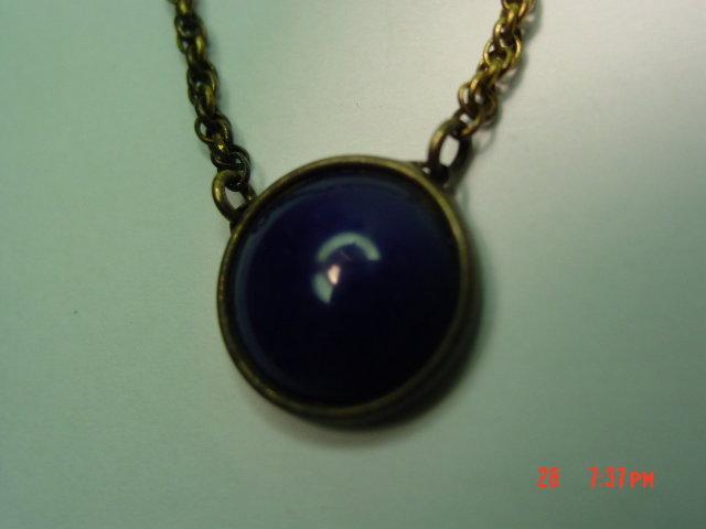 Kreiser Gold Plated Navy Blue Glass Tie Clip Bar