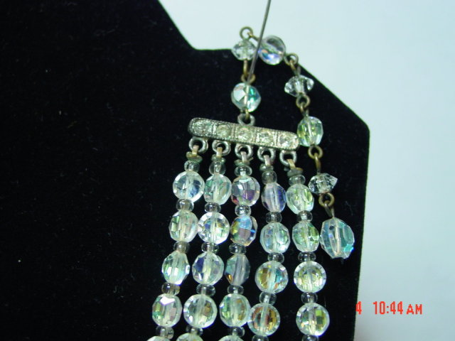 3-Strand AB Crystal Bead Necklace