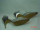 Vintage Ladies Glittery Silver & Vinyl Town-flair High Heel Shoes