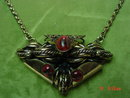 Vintage Art Nouveau Antique Brass Pendant & Chain