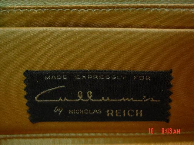 Vintage Nicholas Reich Suede and Reptile Handbag Purse