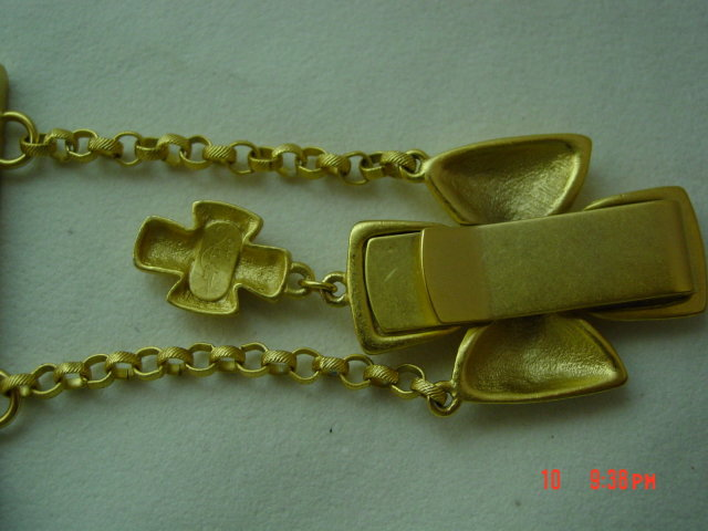 Vintage Goldtone Belt Clip Hanging Business Card Case Holder