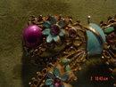 Vintage Purple Thermoset Moonglow & Rhinestone Enamel Bow Brooch Pin
