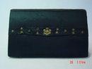Vintage India Razia Zardozi Embroidered Black Silk Evening Bag Purse