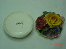 Capodimonte Italy Porcelain Bisque Powder Dish Jar Trinket Box