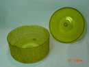 Round Amber Plastic Candy Sewing Box Container by Regaline No. 168
