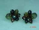Vendome Art Glass Clip Earrings