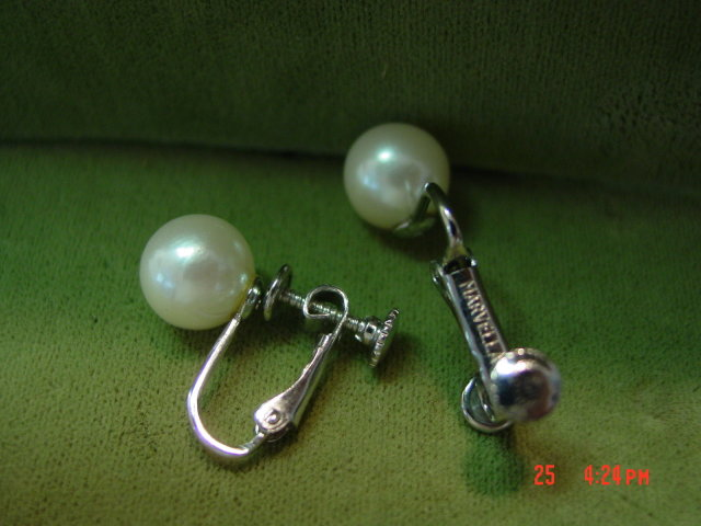 Marvella Faux Pearl Screwback Clip Earrings
