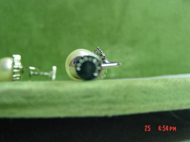 Marvella Faux Pearl Rhinestone Screwback Clip Earrings
