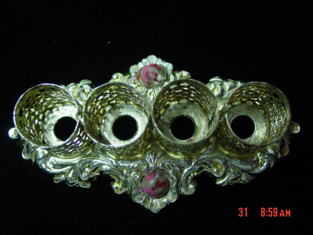 Vintage Gold Filigree Lipstick Holder - 4 Tubes