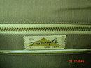 Triangle New York Brown Vinyl Reptile Handbag Purse