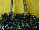 Antique Victorian Beaded Drawstring Reticule Evening Bag Purse