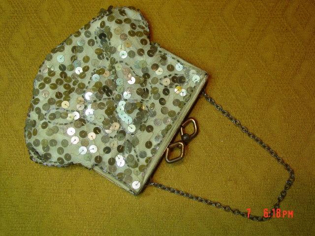 Antique Sequin Evening Bag Purse
