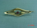 Antique 10K Yellow Gold Pink Sapphire Pin