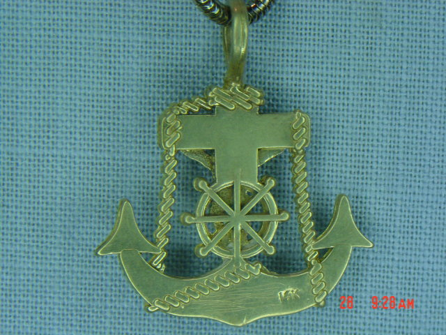 14K Sailor's Crucifix Pendant