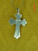 Sterling HT & Black Onyx Cross Pendant