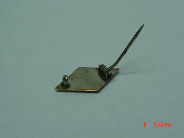 Antique 10K Masonic Compass Square Pin