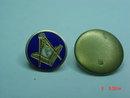 Vintage 14K Masonic Compass Square Lapel Pin