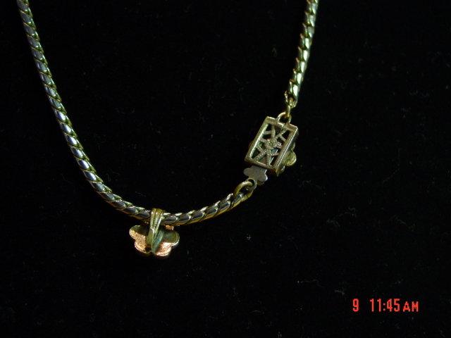 Vintage Rhinestone Flower Choker Necklace