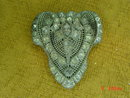 Antique Pot Metal Rhinestone Fur Dress Clip