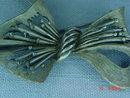 Vintage Pot Metal Art Deco Bow Pin