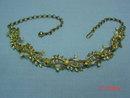 Vintage Goldtone Rhinestone Choker Necklace