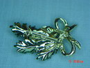 Vintage Gerry's Pine Branch Pine Cone Bow Pin